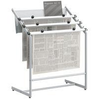 ビジネスフィット 新聞掛け プラチナシルバー  新聞ばさみ3本付 大容量タイプ アスクル