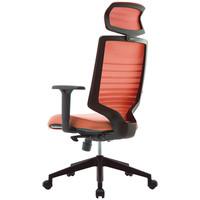 SIDIZ T30チェア オフィスチェア 可動肘・ヘッドレスト付 キャロットオレンジ FHTN302RF020 1脚(2梱包)