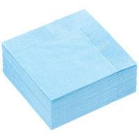 溝端 カラーナプキン 4つ折り 2PLY アクアブルー 1袋(50枚)
