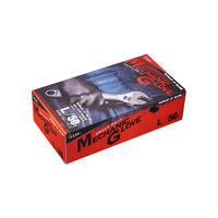 ニトリル手袋 エステー モデルローブNo.1100メカニックグローブ L 760497