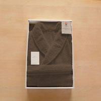 田中産業 今治ベーシック仕様バスローブ メンズ用Lサイズ ブラウン ASTN593744 1箱(1着入) (直送品)