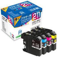ブラザー用 ジット リサイクルインク JIT-B2114P 1パック(4色入)(LC211-4PK互換) LC211シリーズ