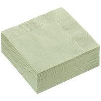 溝端紙工印刷 カラーナプキン 4つ折り 2PLY オリーブ 1セット(200枚:50枚入×4袋)