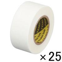「現場のチカラ」 カモ井加工紙 マスキングテープ 白 24mm×18m 1セット(25巻入) KMT750WH24