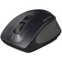 バッファロー 無線(ワイヤレス)マウス(静音)Premium Fitマウス ブラック ブルーLED式/5ボタン/静音タイプ/横スクロール BSMBW500MBK