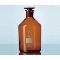 アズワン 試薬瓶(栓付き)デュラン(R) 茶 5000mL 2-1971-08 (直送品)