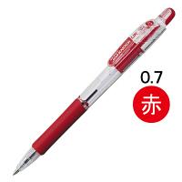 油性ボールペン ジムノックUK 0.7mm 赤 BN10-R 50本 ゼブラ