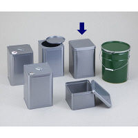 石井ブラシ産業 金属缶 天切缶 18L 1個 1-1806-04 (直送品)