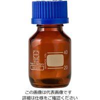 アズワン ねじ口瓶丸型茶褐色(デュラン(R)・017210) 50mL GL-32 1個 1-1961-02 (直送品)