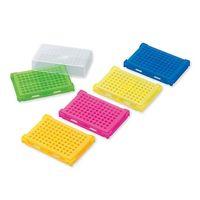 アズワン PCRラック 本体・フタ5色パック(青・緑・オレンジ・ピンク・黄×各4個入) T328-96 1箱(20個) 1-4309-01 (直送品)