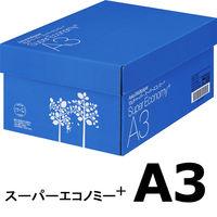コピー用紙 マルチペーパー スーパーエコノミー+ A3 1箱(2500枚:500枚入×5冊) アスクル