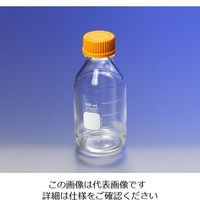 PYREX メディウム瓶(PYREX(R)オレンジキャップ付き) 透明 50mL 1395-50 1本 1-4994-02 (直送品)