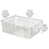 スタッキング ワイヤーバスケット L 1箱(5個入)