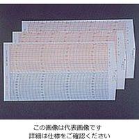 日本計量器工業 温湿度記録計記録用紙 7日間用 990052 1箱(55枚) 1-5065-11 (直送品)