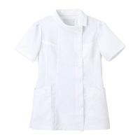 ナガイレーベン チュニック(ロールカラー) 医療白衣 半袖 ホワイト EL FE-4522(取寄品)