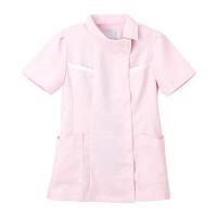 ナガイレーベン チュニック(ロールカラー) 医療白衣 半袖 ピンク EL FE-4522(取寄品)