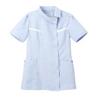 ナガイレーベン チュニック(ロールカラー) 医療白衣 半袖 ブルー EL FE-4522(取寄品)
