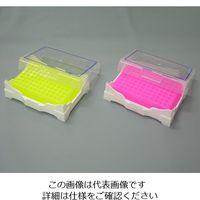 アズワン アイソフリーズPCRラック 緑(冷却時)・黄色(常温時) 5640-T6 1箱(2個) 1-5531-02 (直送品)