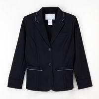 ナガイレーベン テーラードジャケット (医療事務ユニフォーム) 女性用 長袖 ネイビー シングル LL NJ-6906 (取寄品)