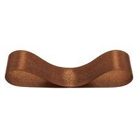 シングルサテンリボン ブラウン 幅19mm×20m巻   1巻 ヘッズ