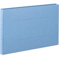 アスクル 背幅伸縮ファイルPPラミネートタイプ A4E ブルー 89995 1袋(10冊入)