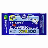 【大人用/流せる】アクティトイレに流せるたっぷり使えるおしりふき 80623 1パック(100枚入) 日本製紙クレシア