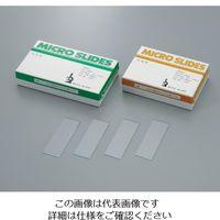 武藤化学 スライドグラス 1102(水縁磨) 1.0mm 100枚入 1-6723-02 1箱(100枚) (直送品)