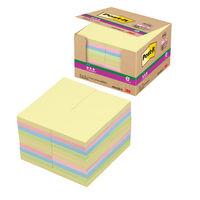 ポストイット(R)強粘着ノート 6544SS-K パステルカラー4色 90枚×40冊 75×75mm