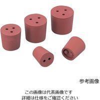 アズワン 穴付き赤ゴム栓 11号 1個入 1個 1-7649-04 (直送品)