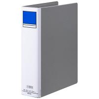 アスクル パイプ式ファイル 両開き ベーシックカラースーパー(2穴)A4タテ とじ厚60mm背幅76mm グレー 3冊