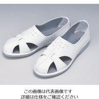 東洋リントフリー 静電シューズ 白 P-01 XL 1足 1-8702-04 (直送品)