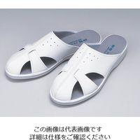 東洋リントフリー 静電スリッパ 白 P-02 M 1足 1-8702-06 (直送品)