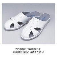 東洋リントフリー 静電スリッパ 白 P-02 XL 1足 1-8702-08 (直送品)