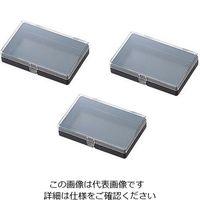 アズワン ヒンジ付角型ケース(導電+帯電防止)4N 1箱(30個) 1-9408-24 (直送品)