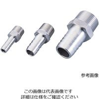 アズワン 六角ホースニップル(ステンレス製) 3/8PT-9 1個 1-9542-04(直送品)