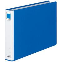 コクヨ リングファイル貼り表紙タイプ 丸型2穴 A4ヨコ 背幅45mm 青 フ-435NB