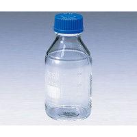アズワン ねじ口瓶丸型白デュラン(R) 青キャップ付 2000mL 2-077-06 (直送品)