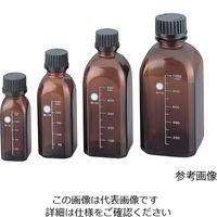 柴田科学 ねじ口瓶角型茶 黒キャップ付 125mL GL-32 1個 2-079-01 (直送品)