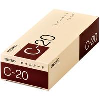 セイコープレシジョン タイムカードCシリーズ C-20タイムカード(20日締め)