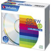 PCデータ用CD-RW シルバーレーベル SW80QU10V1 1パック(10枚入) 三菱ケミカルメディア