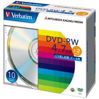 データ用DVD-RW 4.7GB 1-2倍速 DHW47N10V1 1パック(10枚入) 三菱化学メディア