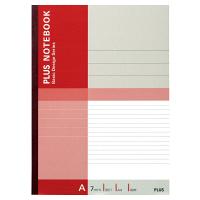 プラス 無線綴じノート ベーシック A4 40枚 A罫 赤 75087