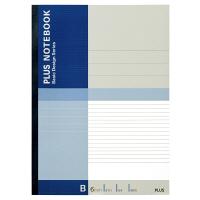 プラス 無線綴じノート ベーシック A4 40枚 B罫 青 75088