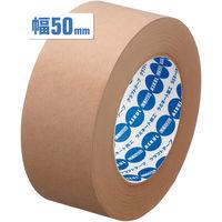 「現場のチカラ」アスクル クラフトテープ スーパーエコノミー 茶 50mm×50m巻 1箱(50巻:5巻入×10パック)