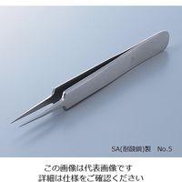 ルビス(rubis) MEISTER ピンセット SA(耐酸鋼)製 No.5 5-SA 1本 2-8028-13 (直送品)