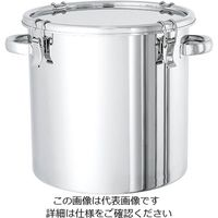 日東金属工業 電解研磨処理済 ステンレス密閉容器 7L CTH-21-EP 1個 2-8256-01 (直送品)