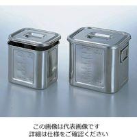本間冬治工業 角型目盛付ポット (取手付き) 14.2L 28 1個 4-1006-10(直送品)