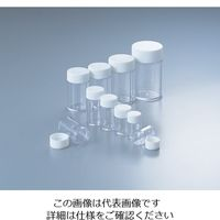 マルエム スチロールねじ瓶 40mL 100本入 No.5 1箱(100本) 4-1024-05 (直送品)