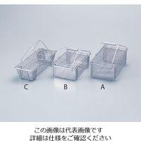 丸山ステンレス ステンフタ付万能カゴ C 1個 4-105-03 (直送品)