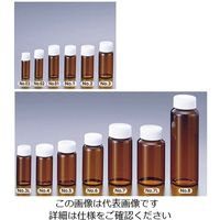 マルエム スクリュー管瓶No.8 110mL 褐色 No.8 1個 5-099-10 (直送品)